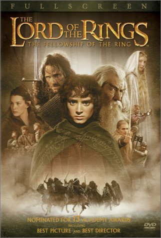 Lord Of The Rings Fellowship Of The Ring Wood Mckellen Mortensen Astin Pg13 2 DVD