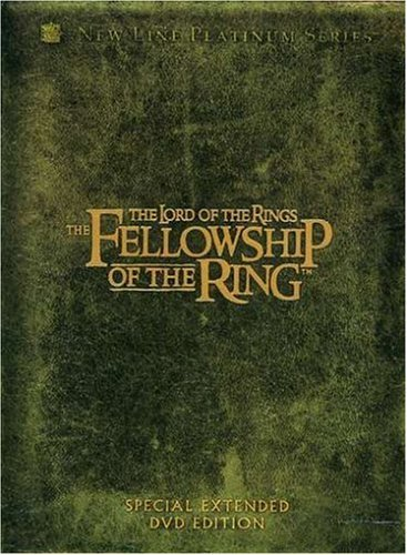 Lord Of The Rings Fellowship Of The Ring Wood Mckellen Mortensen Astin Pg13 4 DVD