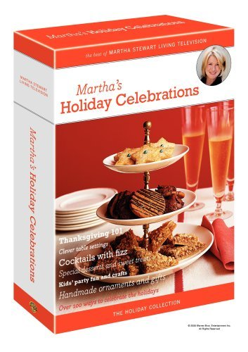 Martha Stewart Martha's Holiday Celebrations Clr Nr 3 DVD