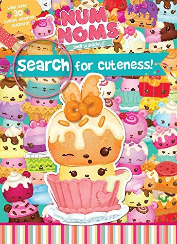 Parragon Books Ltd Num Noms Search For Cuteness! With Over 30 Sweet Scented Stickers!