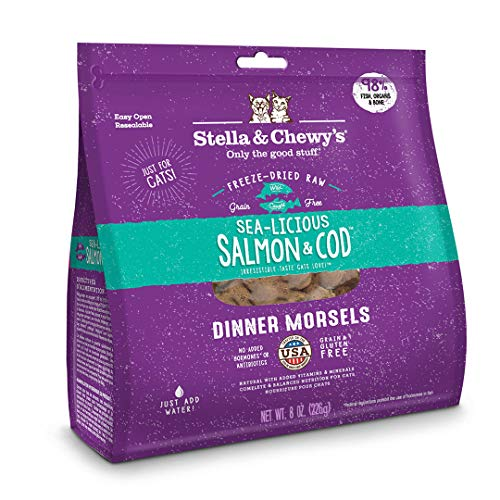 Spor S&c Cat Fzd Smn Cod 9oz (old 12 Oz) Stella & Chewy's Freeze Driedsalmon Codfor Cat12 Ounce