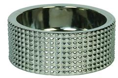 Berlin Dog Bowl Nickel Textured Design Md Dog Bowl Nickel With Textured Design Md Dog Bowl Nickel With Textured Design Md
