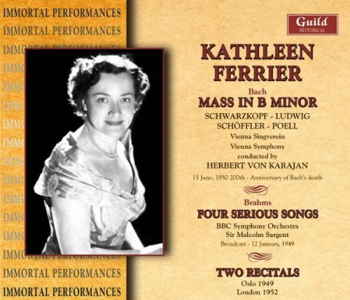 Kathleen Ferrier Bach Brahms & Two Recitals Ferrier (alt) 3 CD