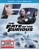Fast & The Furious Fate Of The Furious Blu Ray DVD Dc Pg13