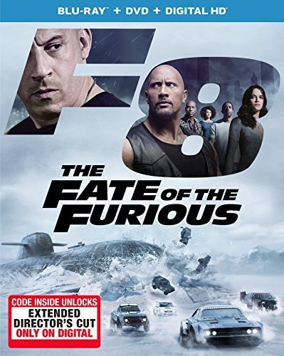 Fast & The Furious Fate Of The Furious Blu Ray DVD W Digital Hd