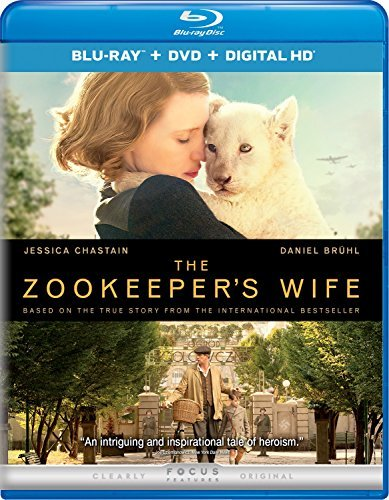Zookeeper's Wife Chastain Heldenbergh Bruhl Blu Ray DVD Dc Pg13