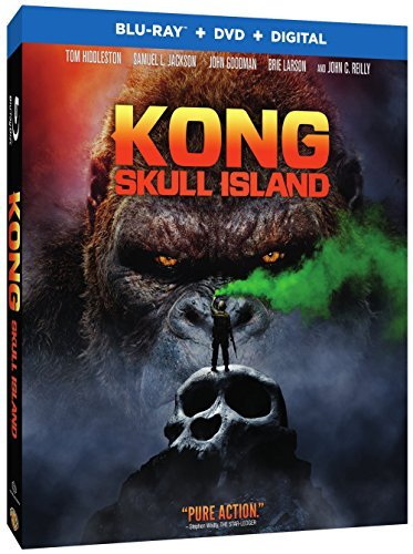 Kong Skull Island Hiddleston Jackson Larson Goodman Blu Ray DVD Dc Pg13