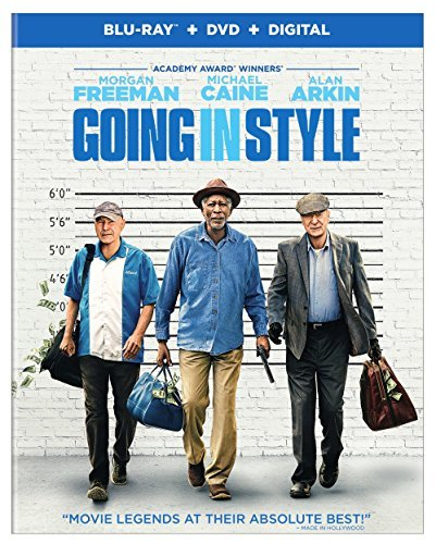 Going In Style Freeman Caine Arkin Blu Ray DVD Dc Pg13