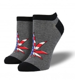 Socks Womens Crew Patriotic Plant Charcoal Heather