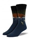 Socks Mens Crew Gone Fishing River Blue