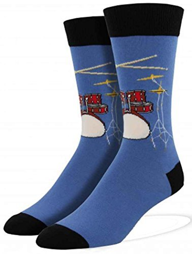 Socks Mens Crew Drum Solo Blue Fog