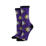Socks Womens Crew Celestial Midnight Purple