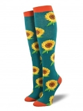 Socks Kneehigh Sunflower Teal