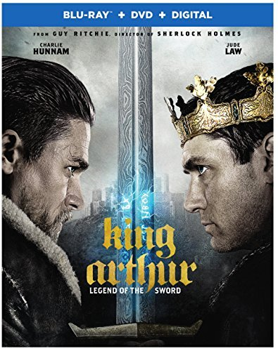 King Arthur Legend Of The Sword Hunnam Berges Frisbey Law Blu Ray DVD Dc Pg13