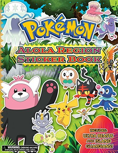 The Pokemon Company International Pokemon Alola Region Sticker Book
