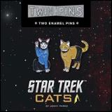 Jenny Parks Star Trek Cats Twin Pins