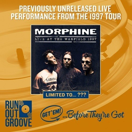 Morphine Live At The Warfield 1997 Numbered 2lp 180g Black Vinyl Gatefold Tip On Stoughton Sleeve