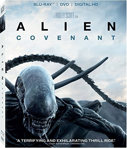 Alien Covenant Fassbender Waterson Crudup Blu Ray DVD Dc R