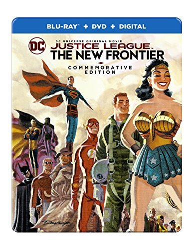 Justice League New Frontier Commemorative Justice League New Frontier Commemorative Blu Ray DVD Dc Pg13 Steelbook