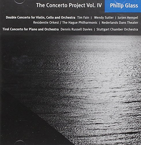 P. Glass Double Concerto For Violin Cel Fain (vln) Sutter (cel) Davies Hempel Hague Philharmonic Stut