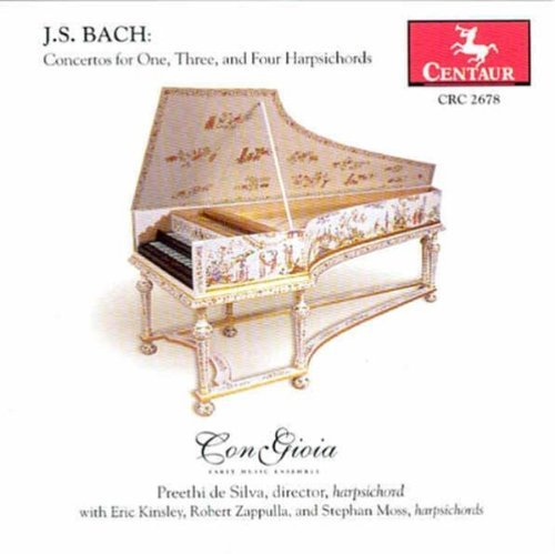 Johann Sebastian Bach Concertos For One Three & Con Gioia Kinsley Moss Silva Z