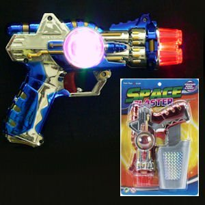 Toy Flashing Space Blaster Gun With Holster