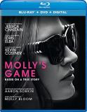 Molly's Game Chastain Elba Costner Blu Ray DVD Dc R