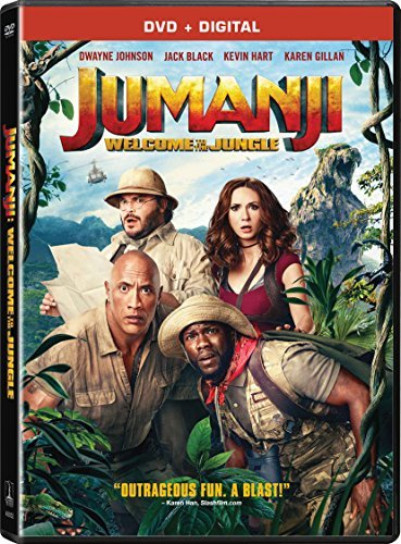Jumanji Welcome To The Jungle Johnson Gillan Hart Black DVD Dc Pg13