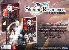 Nintendo Switch Shining Resonance Refrain Draconic Launch Edition