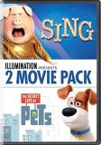 Sing Secret Life Of Pets Illumination Presents 2 Movie Pack DVD Pg
