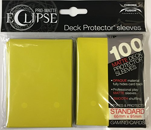 Card Sleeves Eclipse Lemon Yellow 100 Ct Pack