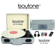 Turntable 5 In 1 Boytone Bt 101tbgr Briefcase Record Player