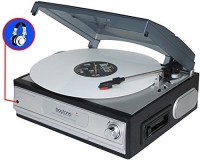 Turntable Boytone Bt 17tbc Turntable + Cassette Player + Hea