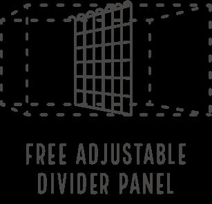 Free Adjustable Divider Panel