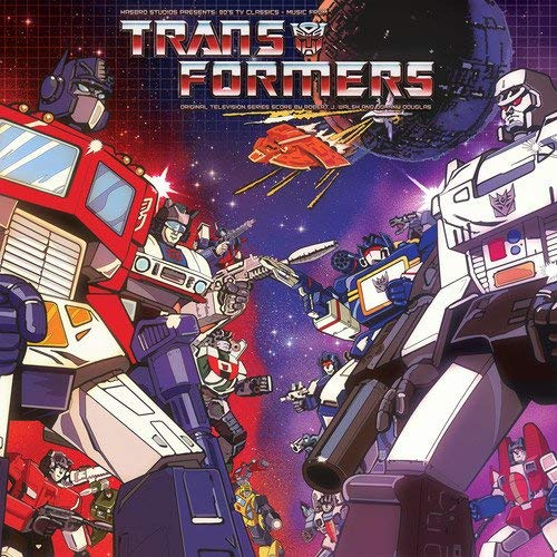 Transformers Soundtrack (clear With Red & Purple Splatter) Robert J. Walsh & Johnny Douglas Lp