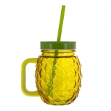 Glassware Pineapple Glass & Straw