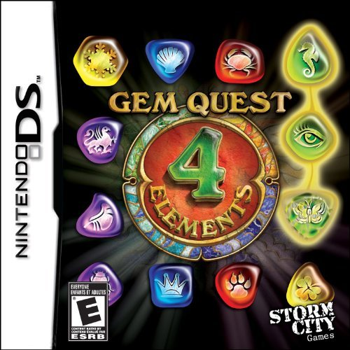 Nintendo Ds Gem Quest 4 Elements Storm City Games