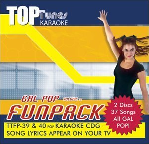 Various Artists Top Tunes Karaoke Cdg Gal Pop Vol.2 Fun Pack Ttfp