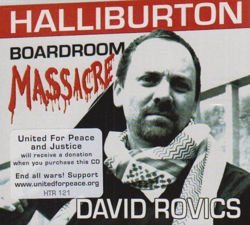 David Rovics Halliburton Boardroom Massacre Incl. Bonus DVD