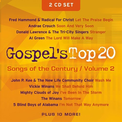 Gospel's Top 20 Vol. 2 Songs Of The Century Hammond Winans Hawkins 2 CD Set