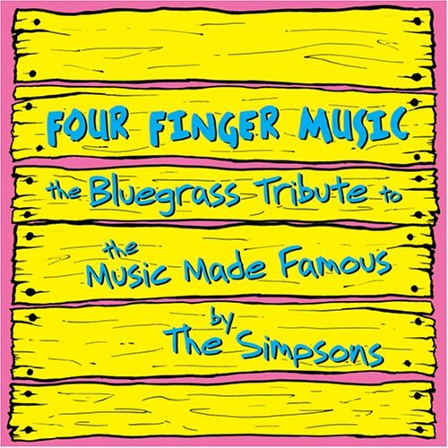 Simpsons Four Finger Music Bluegrass T