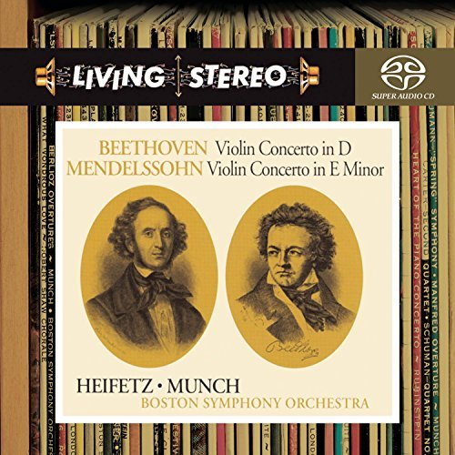 Beethoven Mendelssohn Violin Concerto Sacd Hybrid Munch Boston So