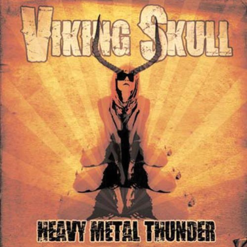 Viking Skull Heavy Metal Thunder