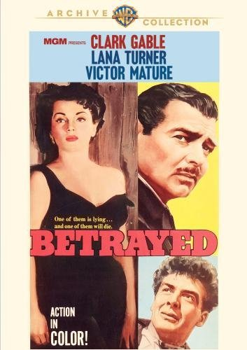Betrayed (1954) Gable Turner Mature DVD Mod This Item Is Made On Demand Could Take 2 3 Weeks For Delivery