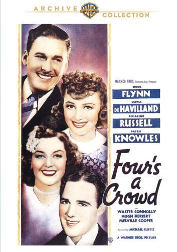 Four's A Crowd Flynn Havilland Russell Knowle Bw DVD R Nr