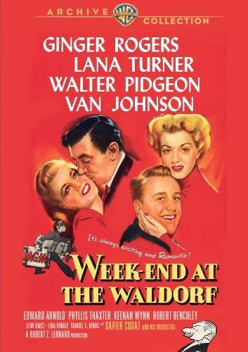 Week End At The Waldorf Rogers Turner Pidgeon Bw DVD R Nr