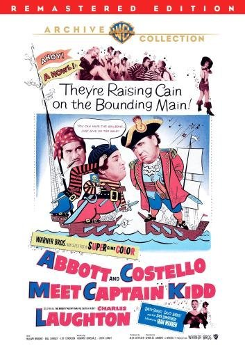 Abbott & Costello Meet Captain Abbott Costello Laughton DVD R Remastered Nr