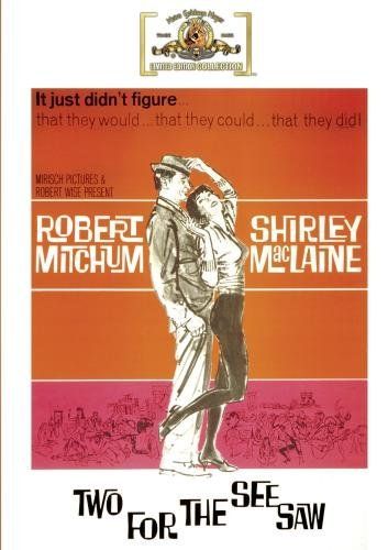 Two For The Seesaw Mitchum Maclaine Ryan Bw Ws DVD R Nr