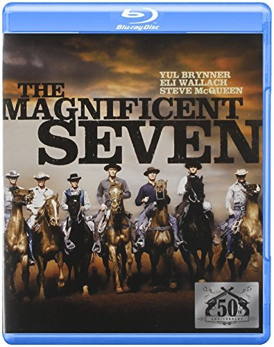 Magnificent Seven (1960) Brynner Mcqueen Vaughn Coburn Blu Ray Ws Nr