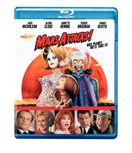 Mars Attacks! Nicholson Close Brosnan Blu Ray Ws Pg13